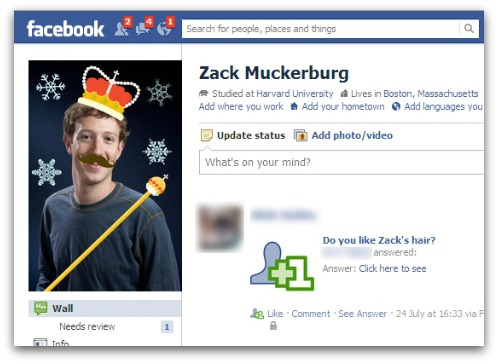 Example of a Fake Facebook account