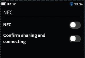 Meego NFC settings