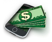 Mobile phone money. Image from Shutterstock