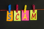 Scam, courtesy of Shutterstock