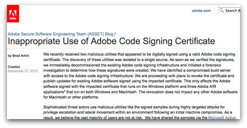 Adobe blog