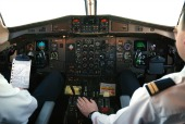 Plane cockpit, courtesy of Shutterstock