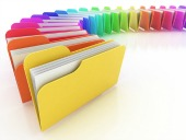 Multicoloured files, courtesy of Shutterstock