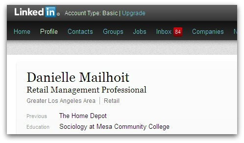 Mailhoit's LinkedIn profile