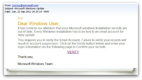 Is this email really from Microsoft?