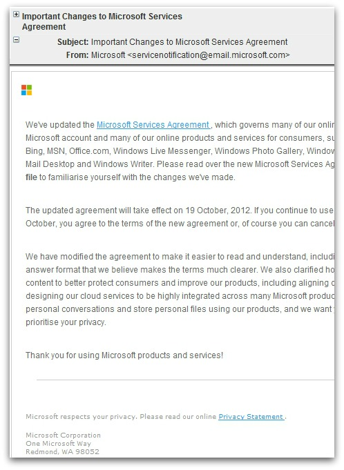 Malicious email. Click for larger version