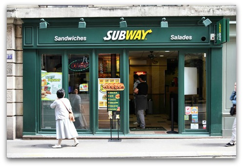Subway store. Image from Shutterstock