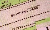 Boarding pass image, courtesy of Shutterstock