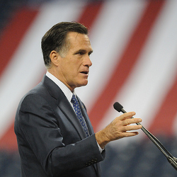 Creative Commons photo of Mitt Romney courtesy of Austen Hufford's Flickr photostream