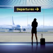 Departures sign, courtesy of Shutterstock