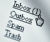 Email screen, courtesy of Shutterstock
