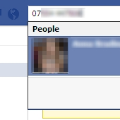 Reverse look-up of a phone number on Facebook