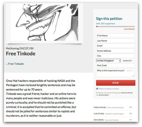 Free TinKode petition