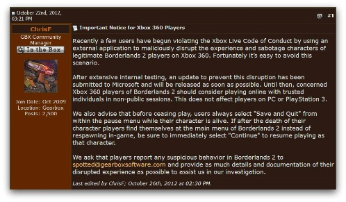 Gearbox statement
