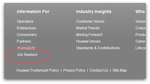 Navigation on Huawei's UK website