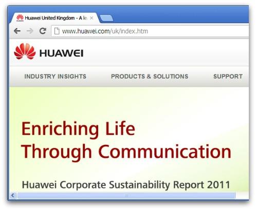 Huawei's UK website