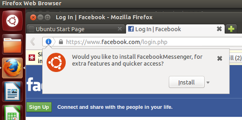 Facebook Messenger enable prompt