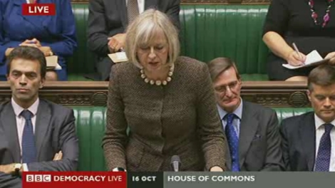 Commons statement by Theresa May