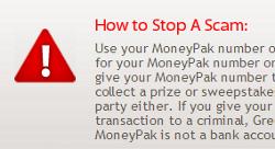 MoneyPak warning