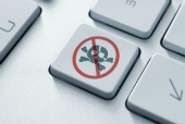 Piracy key on keyboard, courtesy of Shutterstock