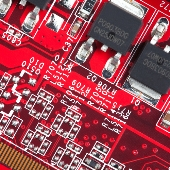 Red circuit board. Image from Shutterstock
