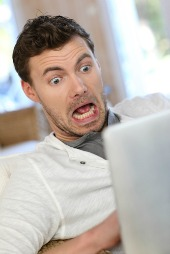Scared man, courtesy of Shutterstock