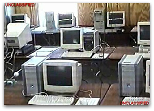 PC monitors went dark