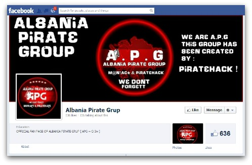 Albania Pirate Group on Facebook