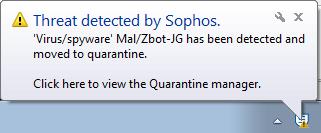 Sophos ZBot detection