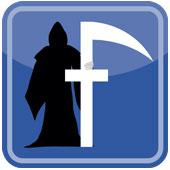Facebook grim reaper, courtesy of Shutterstock