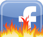 Facebook in flames