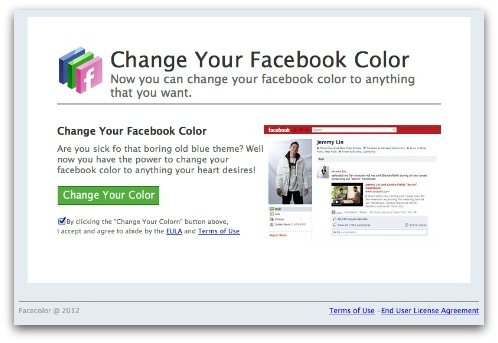Change your Facebook Color
