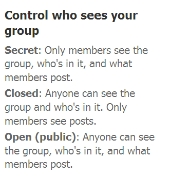 Types of Facebook Group