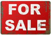 For sale sign, courtesy of Shutterstock