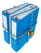 Padlocked files, courtesy of Shutterstock