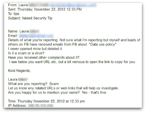 Reader's question to the Naked Security team