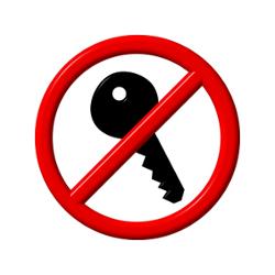 Shutterstock image of no keys needed