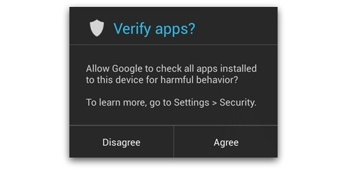 Google Android verifying apps