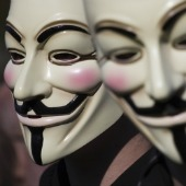 Anonymous masks, courtesy of Shutterstock