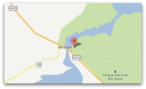 Google Maps of John McAfee's location