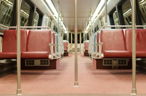 Washington DC metro train. Image from Shutterstock
