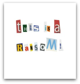 Ransom note, original courtesy of Shutterstock