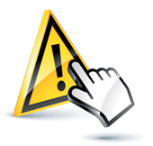 Warning sign, courtesy of Shutterstock