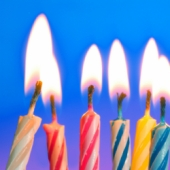 Birthday candles. Image from Shutterstock