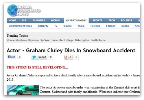 Cluley dead?  Nah..