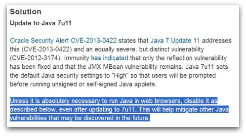 DHS CERT advises disabling Java