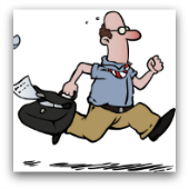rushing man cartoon