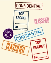 Secret, confidential, classified. Image from Shutterstock