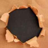 Paper hole. Image from Shutterstock